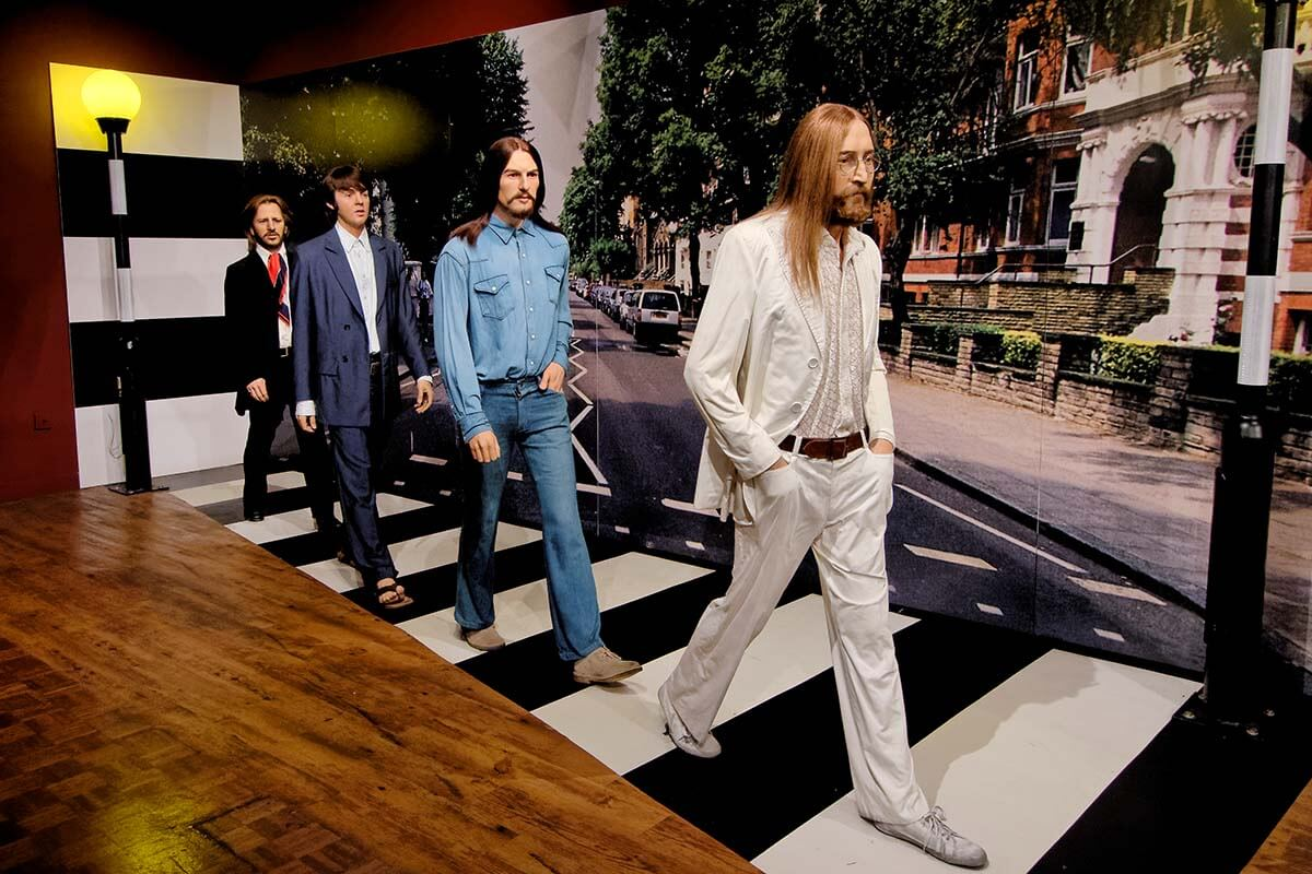 The Beatles at Madame Tussauds in Blackpool UK
