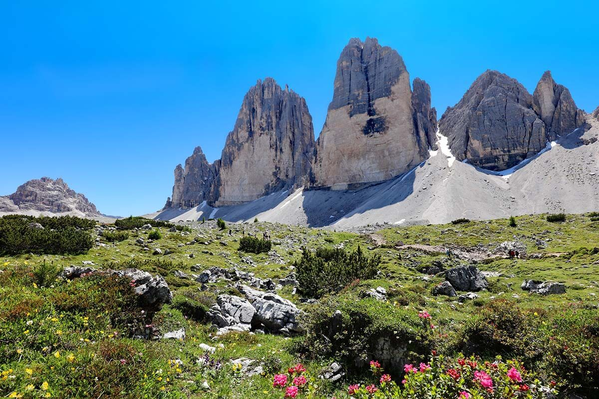 Tre Cime di Lavaredo is one of the must see places in the Dolomites Italy