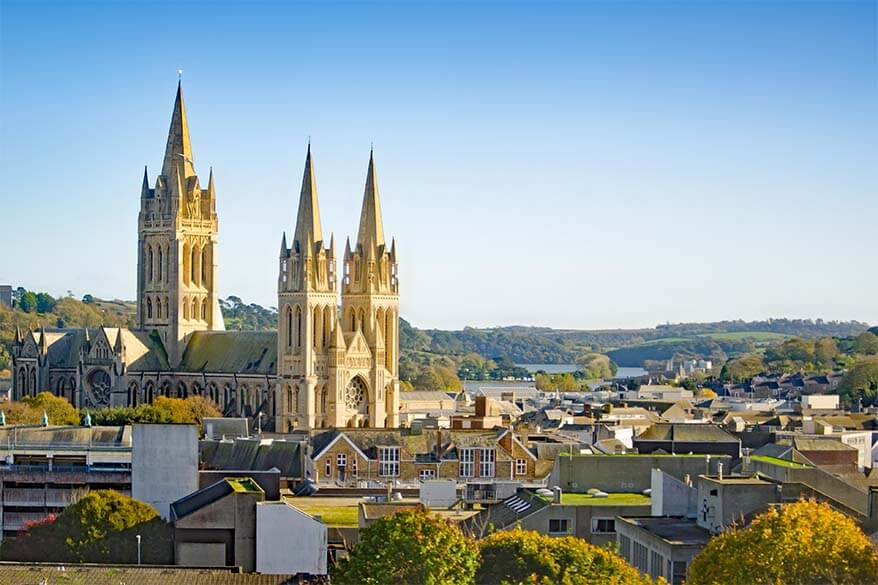 Truro city and Cathedral in Cornwall