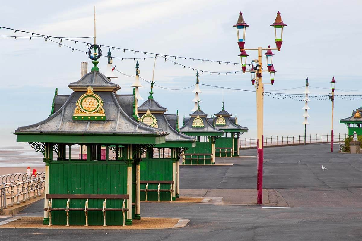Victorian Promenade in Blackpool UK