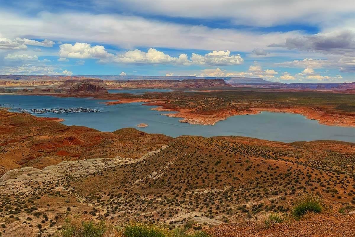Wahweap Overlook near Page Arizona