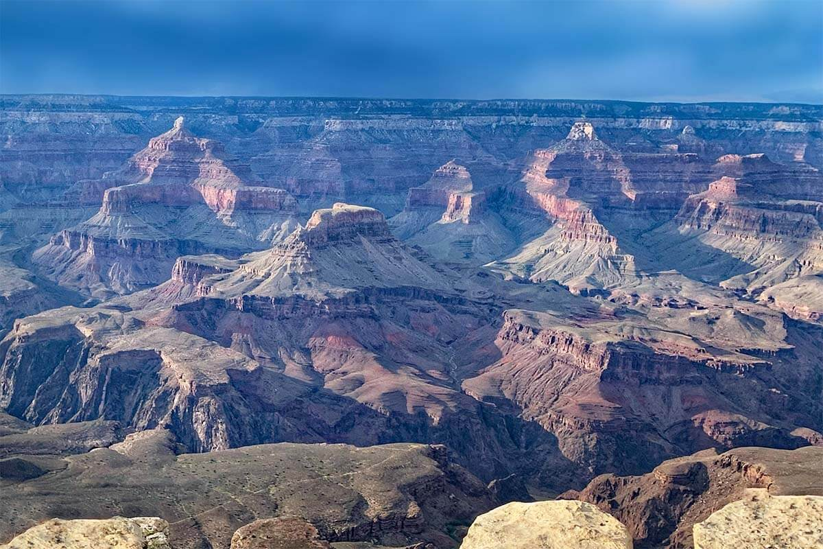 views near Yavapai Point in Grand Canyon