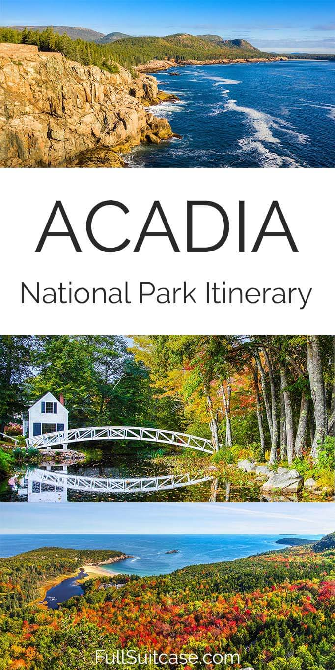 Acadia National Park itinerary suggestions and tips for planning your trip