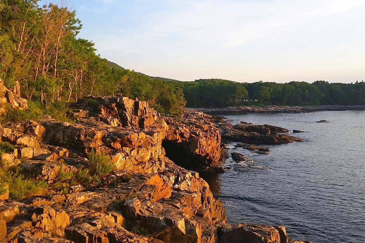 Scenery close to Anemone Cave in Acadia National Park