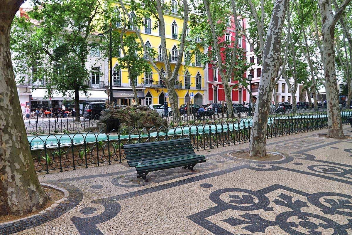 Avenue of Liberty in Lisbon
