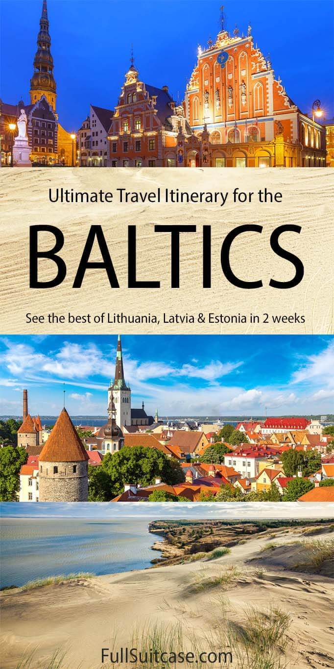 Baltics trip itinerary - see the best of Estonia, Latvia, and Lithuania in two weeks