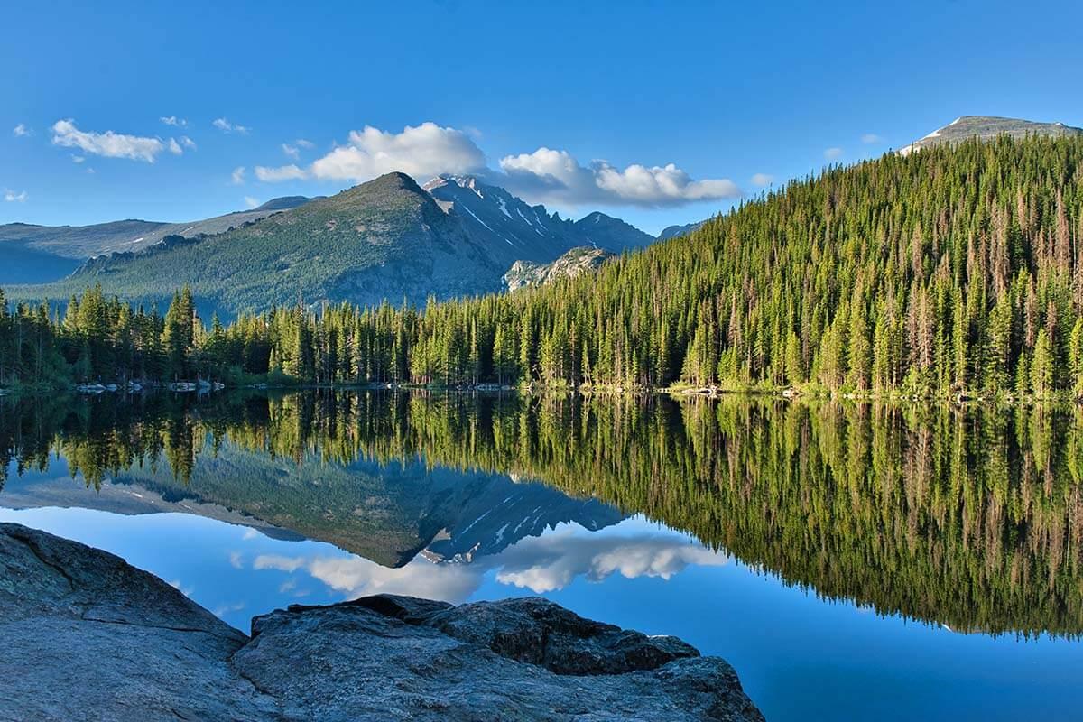 Bear Lake in Rocky Mountain National Park, Colorado USA