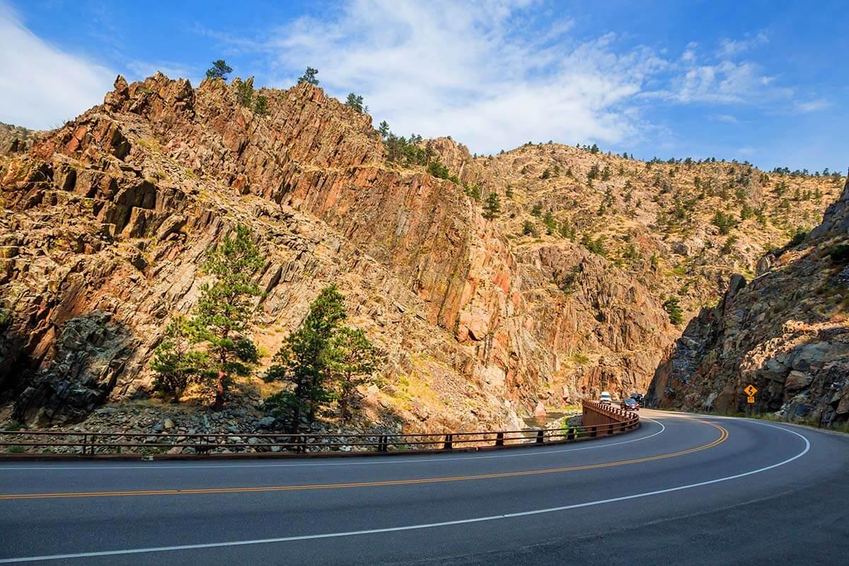 Big Thompson Canyon Road - Hwy34 near Estes Park Colorado