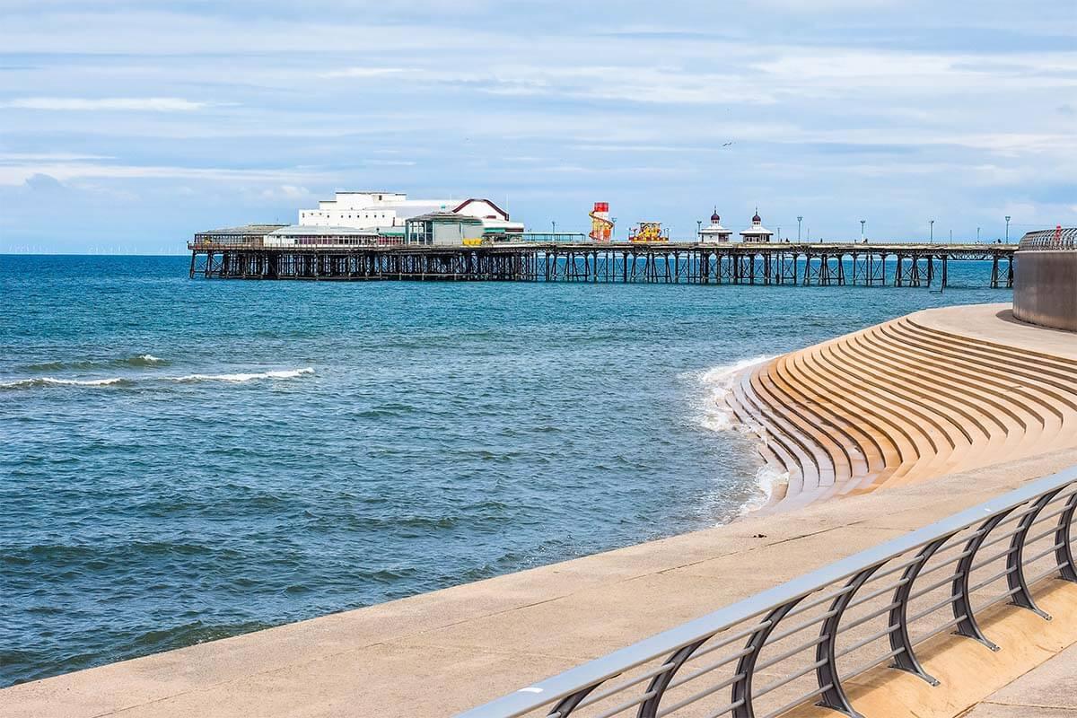 Blackpool Beach at high tide