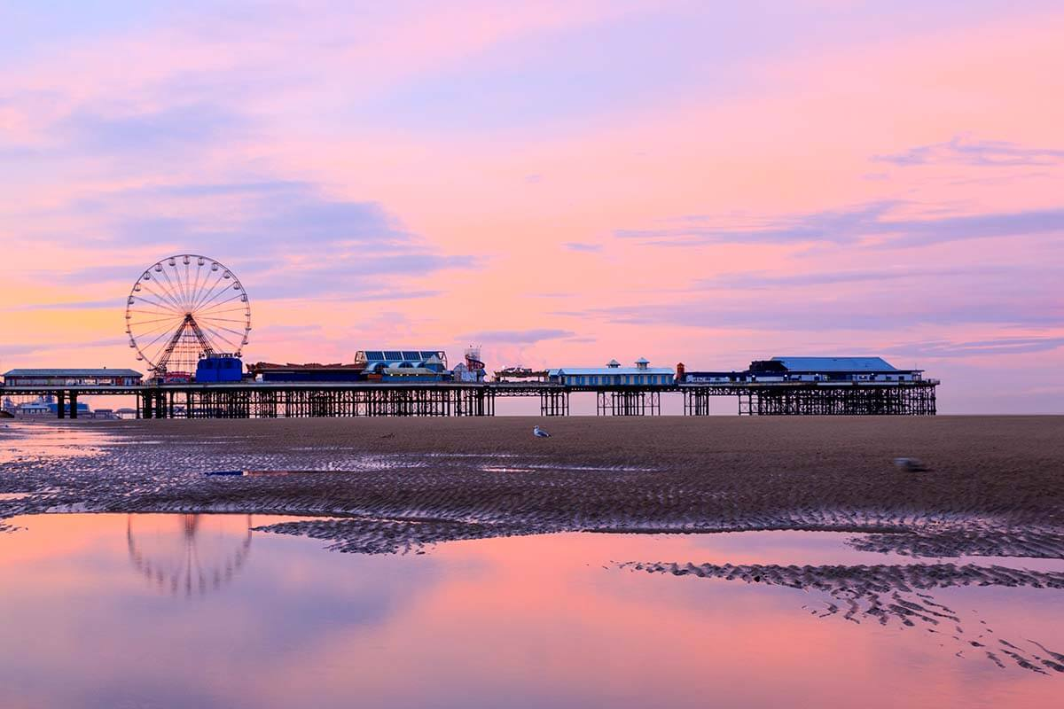 Blackpool Central Pier at sunrise