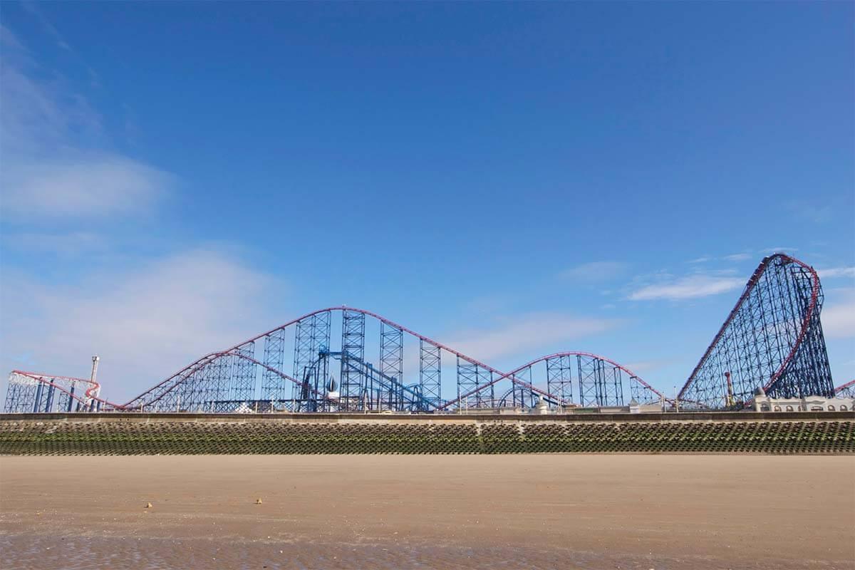 Blackpool Pleasure Beach - The Big One roller coaster