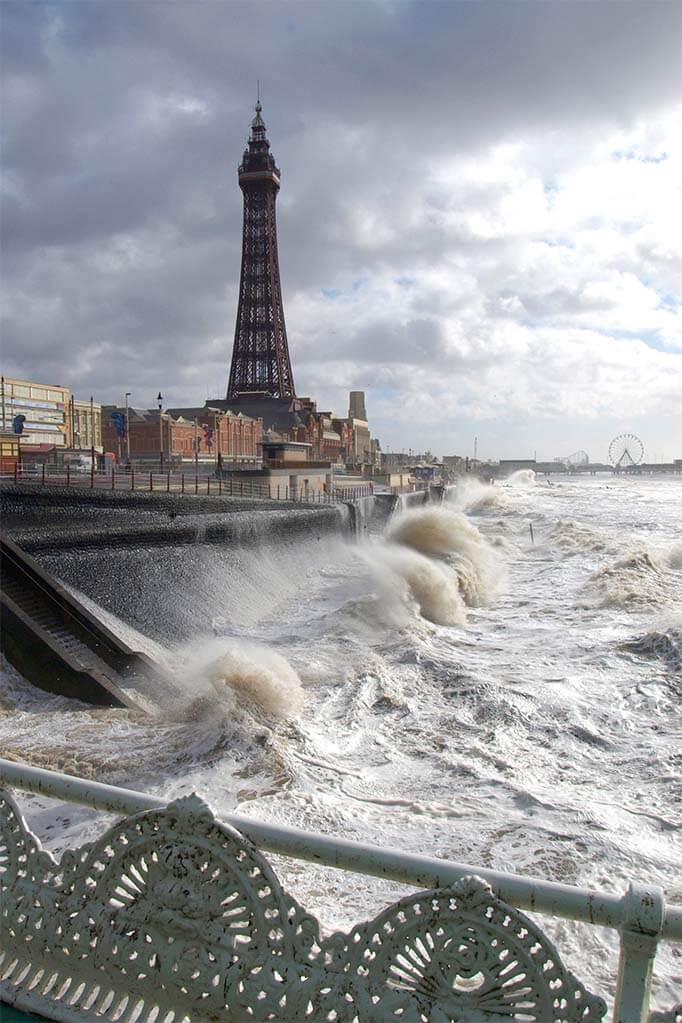Blackpool on a stormy day in winter