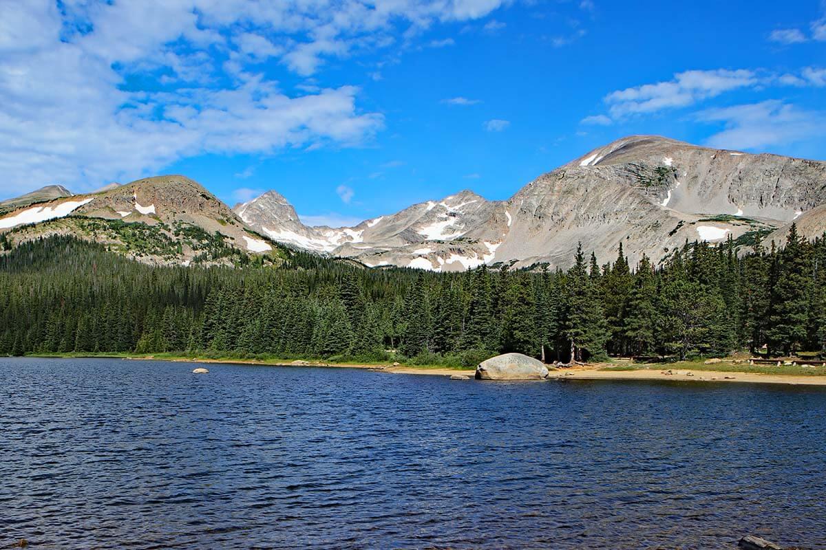 Brainard Lake near Peak to Peak road in Colorado