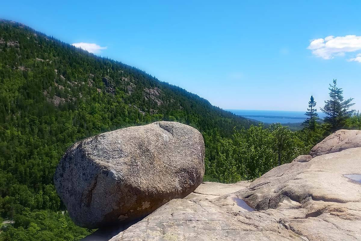 Bubble Rock in Acadia National Park