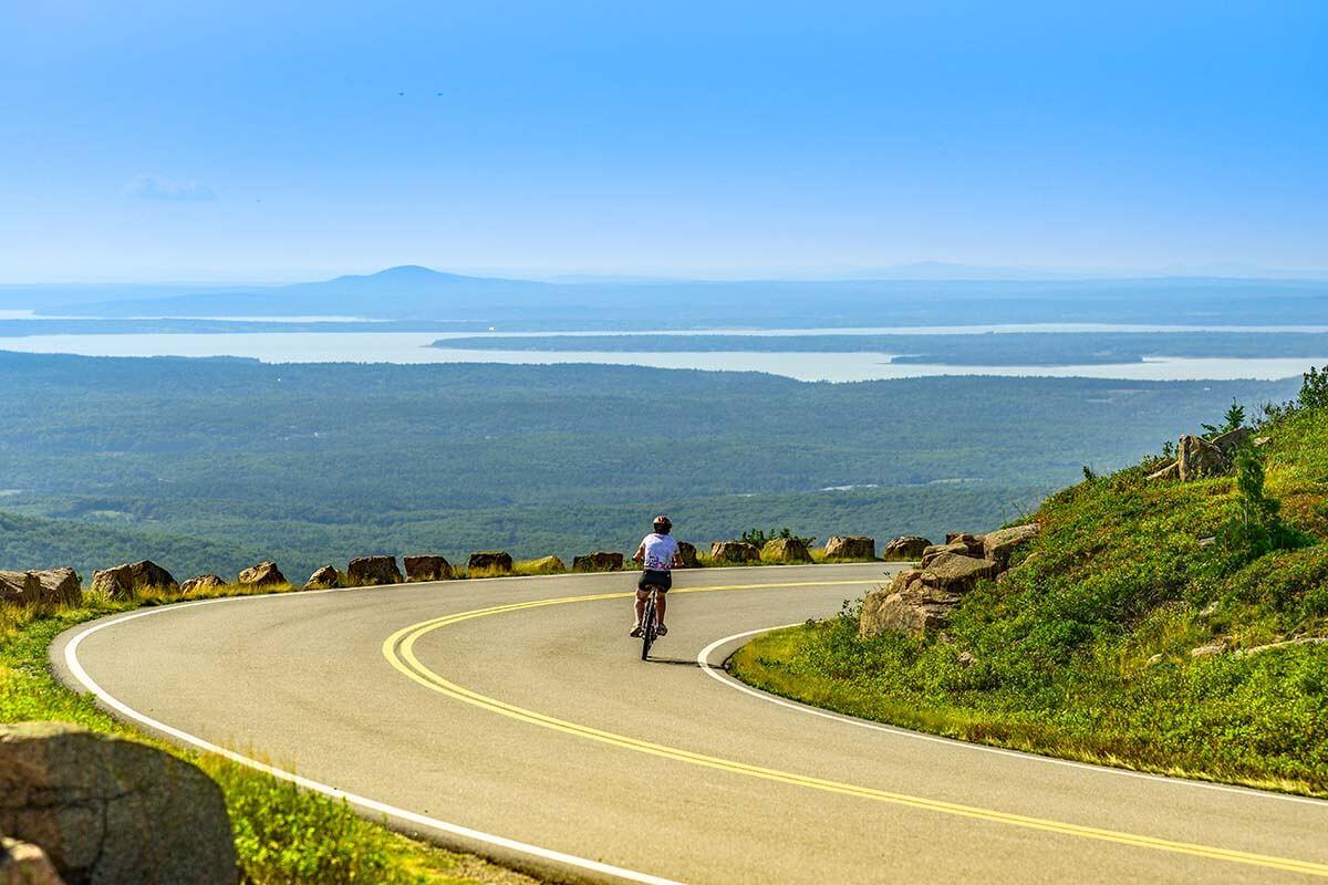 Cadillac Mountain Summit Road in Acadia National Park