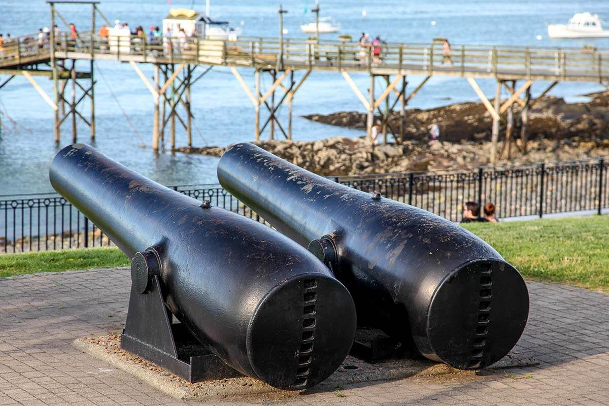 Cannons in Bar Harbor Maine USA