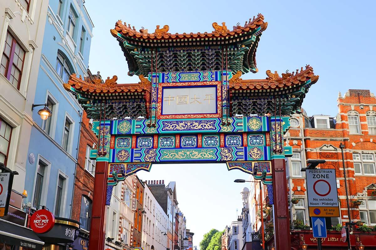 Chinatown Gate in London