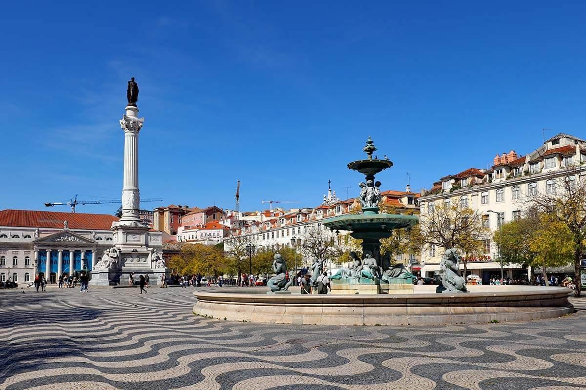 Don Pedro IV Square - Rossio Square Lisbon