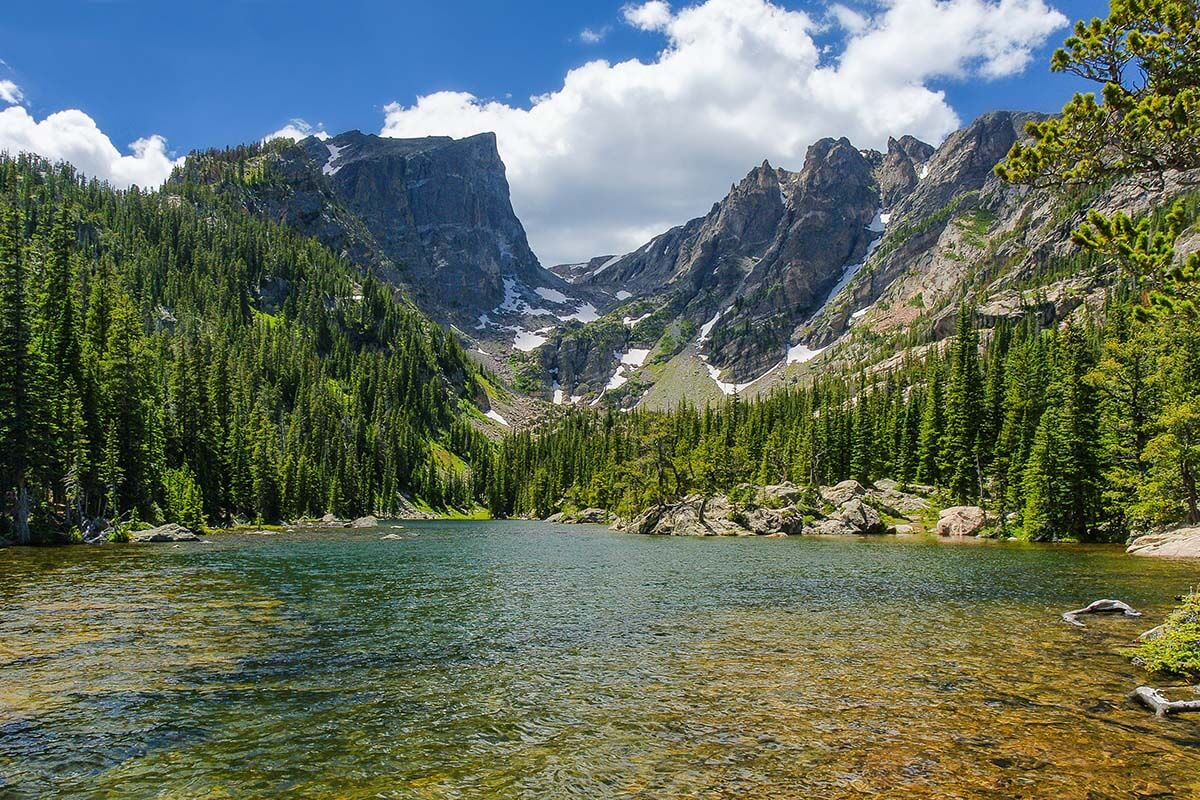 Dream Lake in Rocky Mountain National Park, Colorado USA