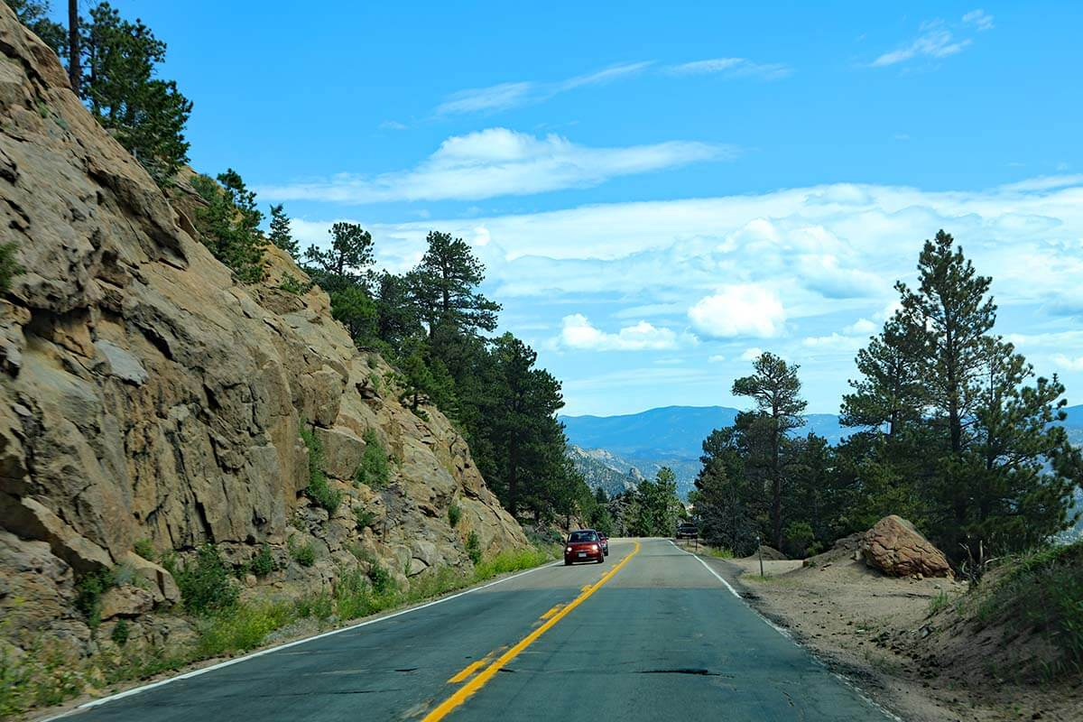 Driving to Estes Park from Denver via Peak to Peak highway