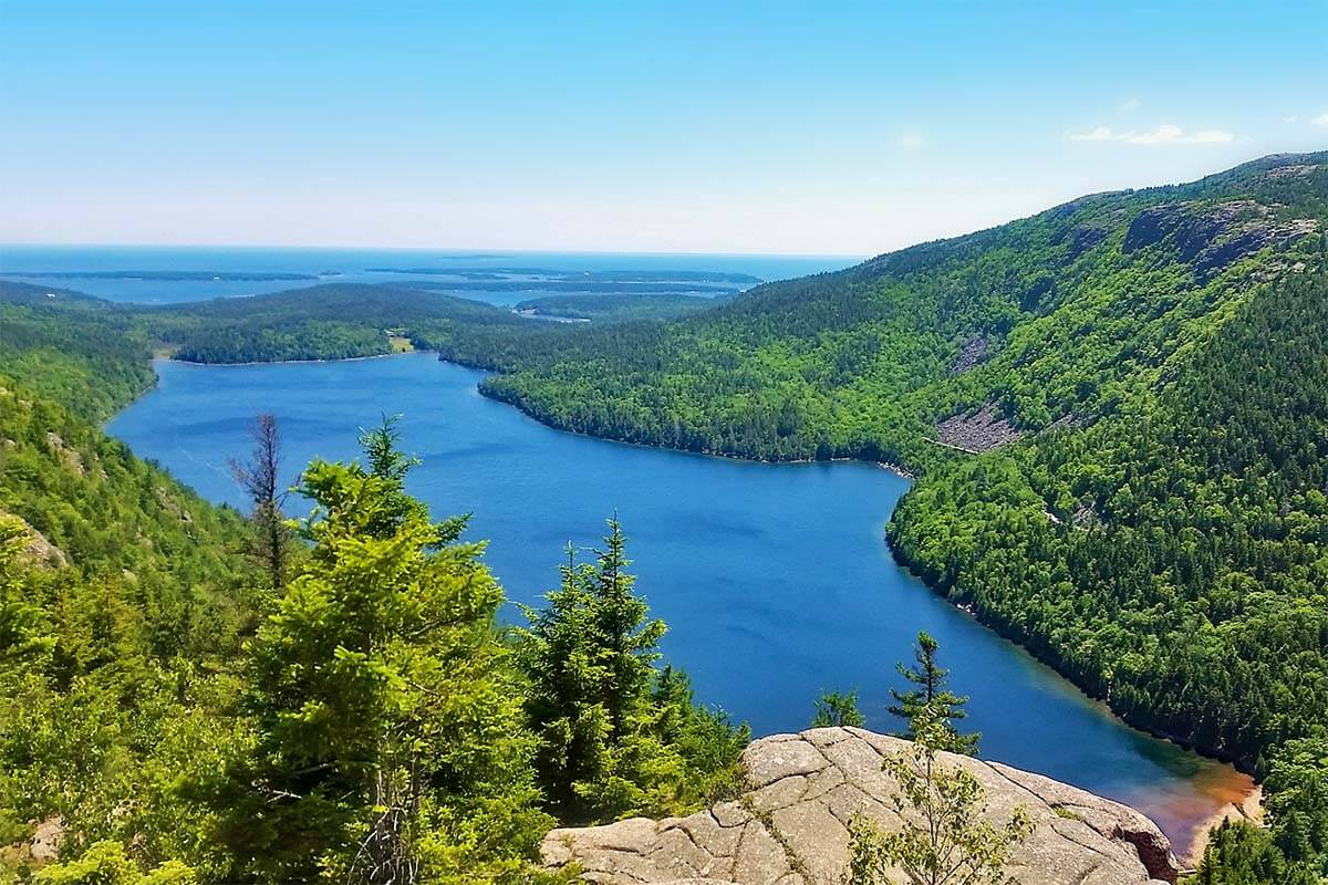 Eagle Lake View from North Bubble in Acadia National Park