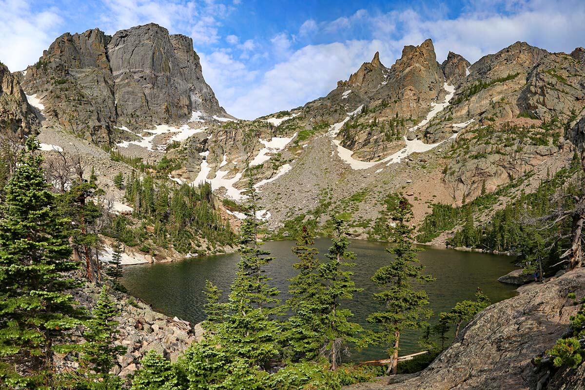 Emerald Lake in Rocky Mountain National Park, Colorado USA