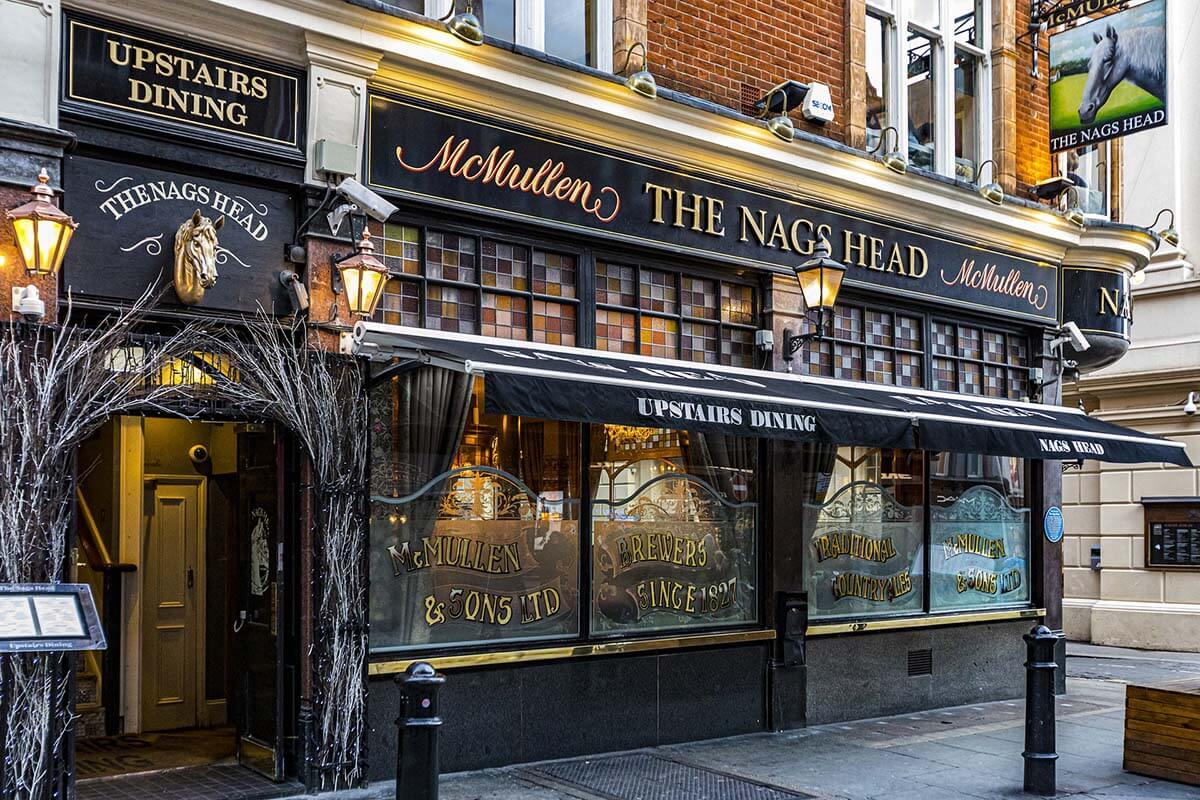 English pub McMullen The Nags Head in Covent Garden London