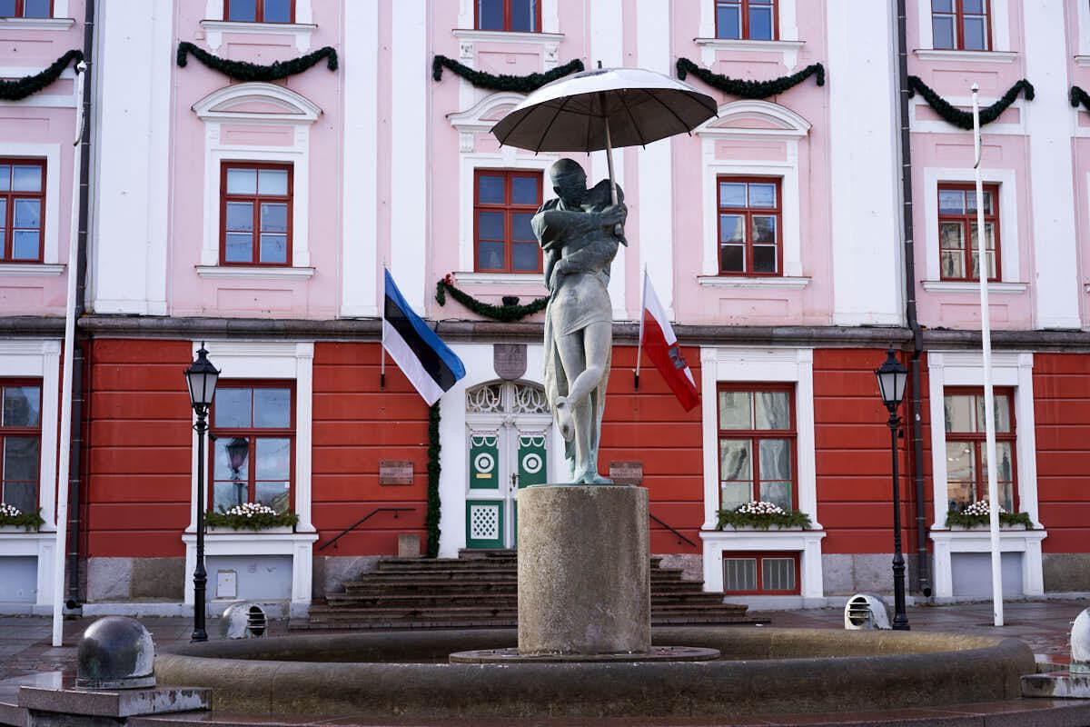 Tartu Town Hall Square in Estonia
