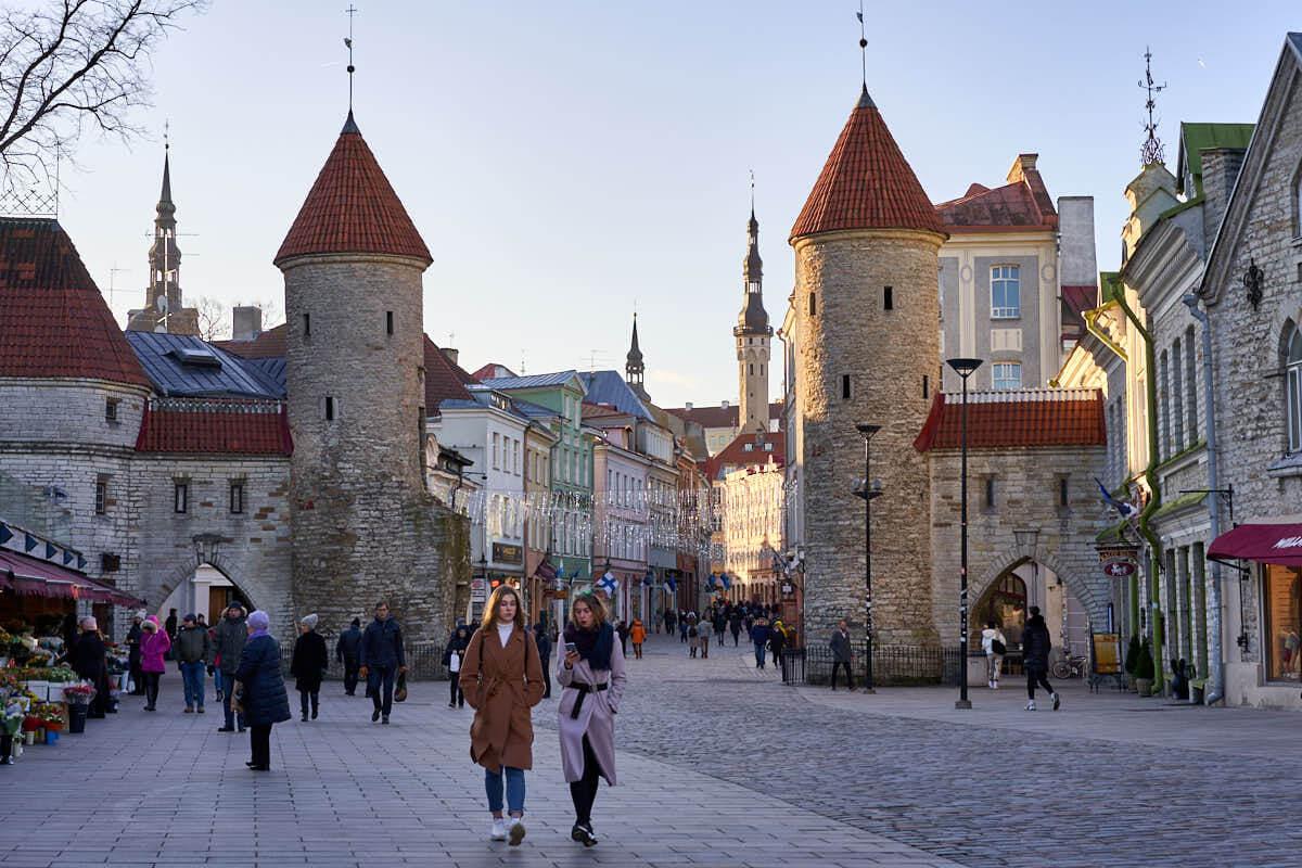 Viru Gate in Tallinn Estonia