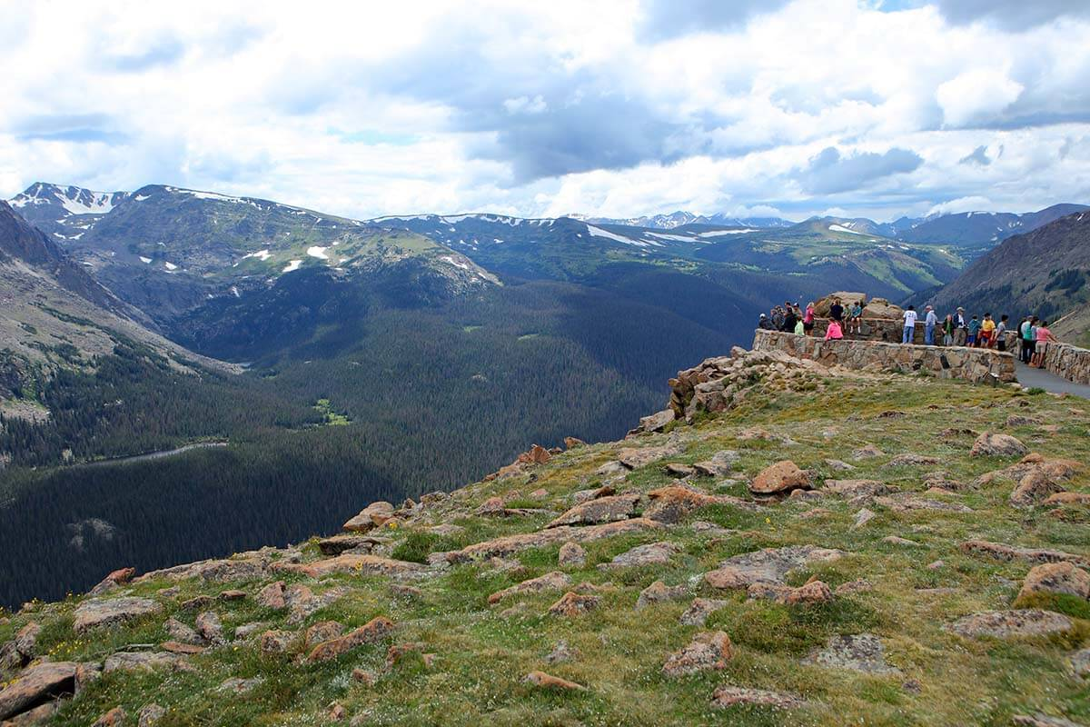 Forest Canyon Overlook at Trail Ridge Road in RMNP Colorado