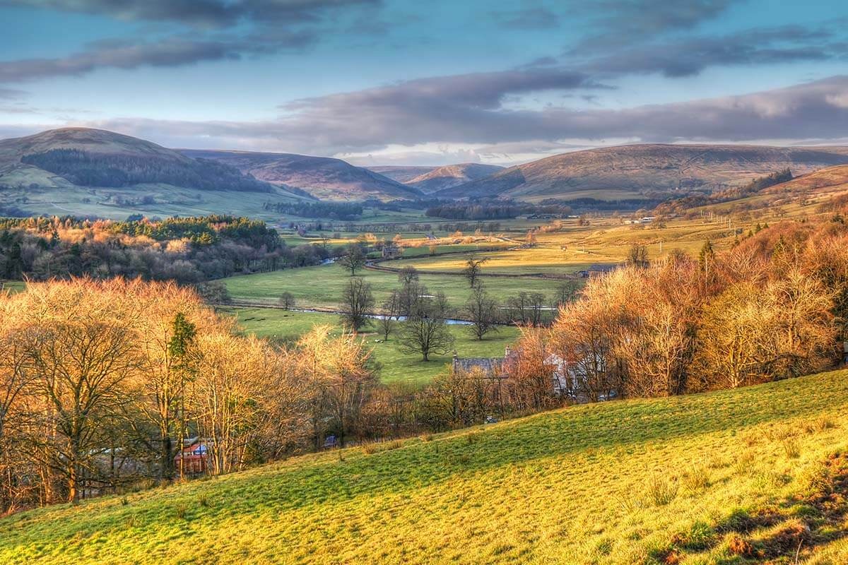 Forest of Bowland in Lancashire UK