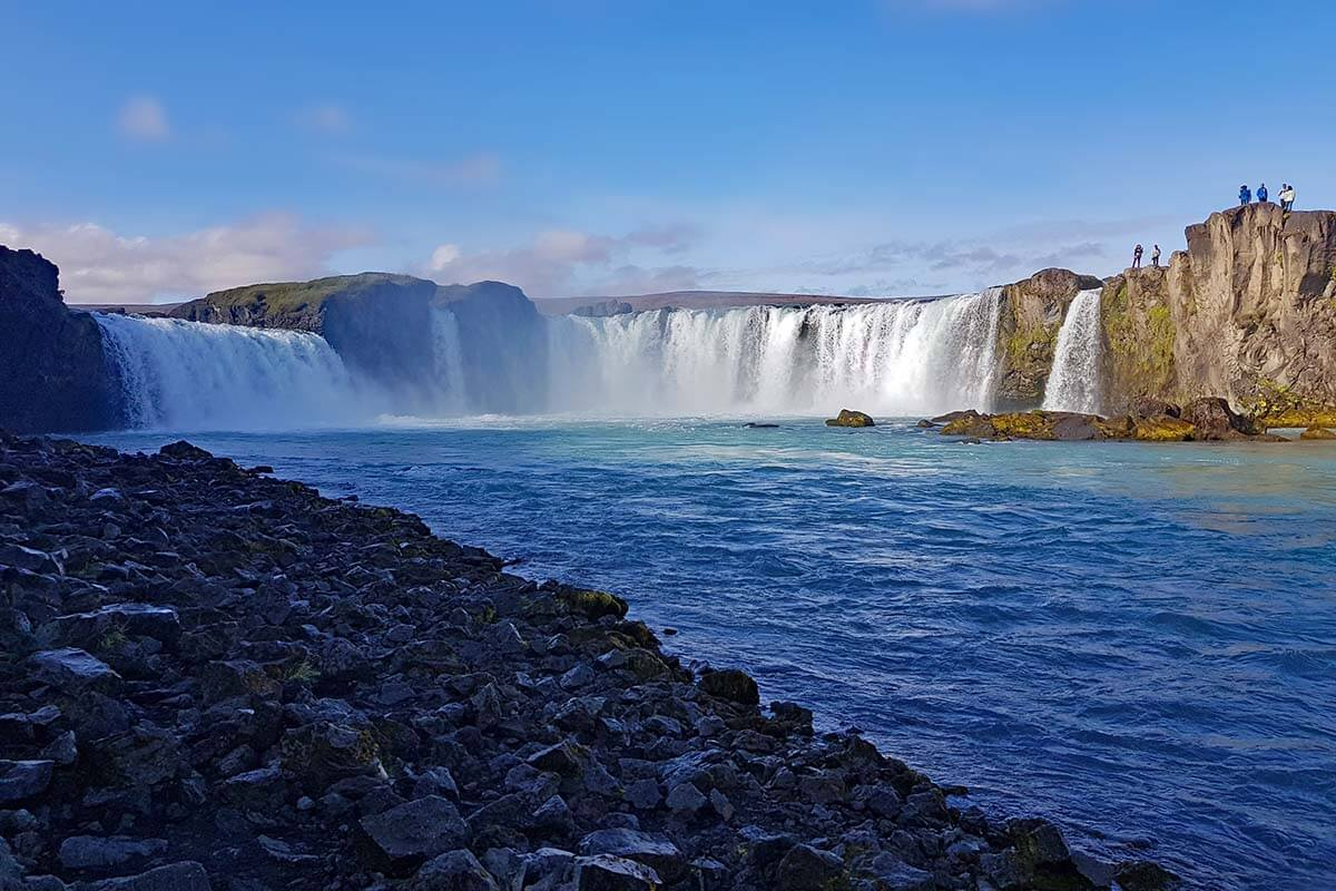 Godafoss waterfall in North Iceland