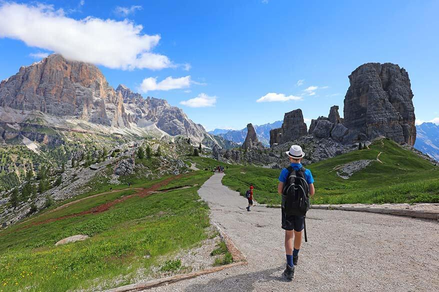 Hiking in the Italian Dolomites, Cinque Torri