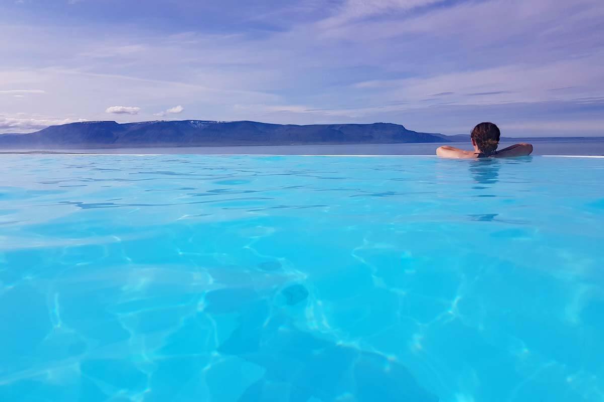 Hofsos swimming pool in Iceland