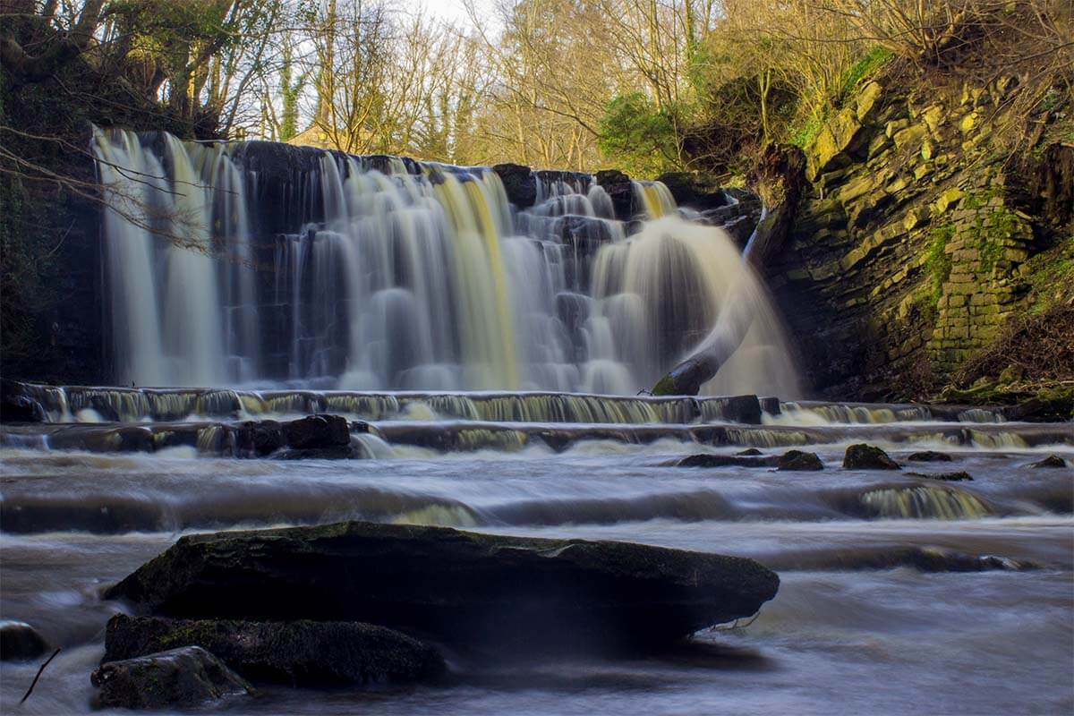 Holden Waterfall in the Forest of Bowland UK