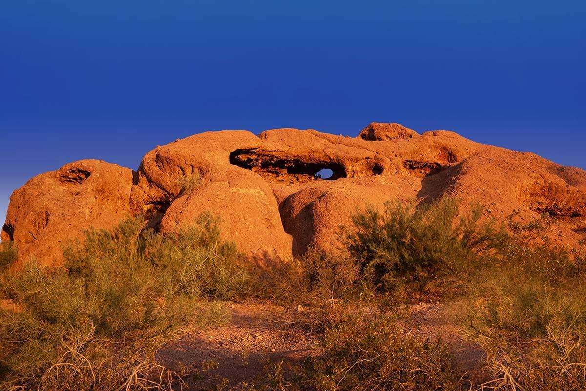 Hole in the Rock Papago Park in Phoenix AZ