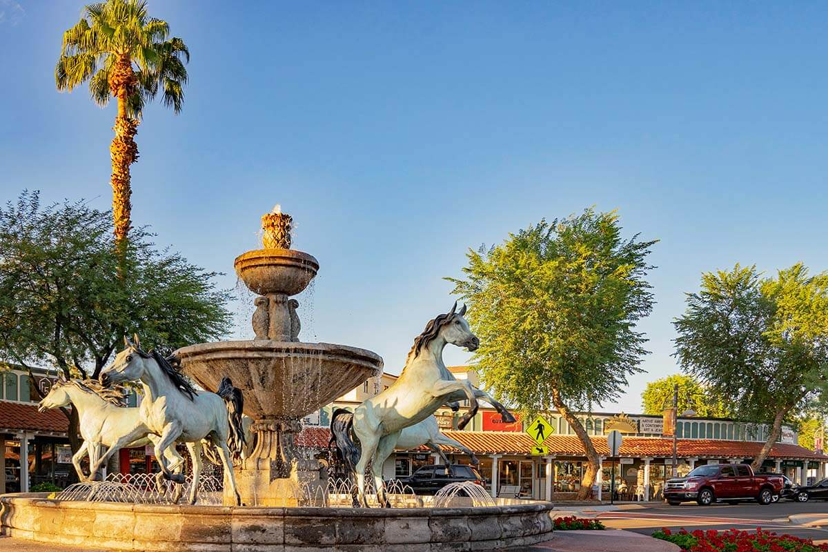 Horse Fountain by Bob Parks in Scottsdale