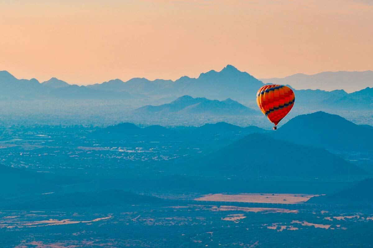 Hot air balloon ride in Phoenix Arizona