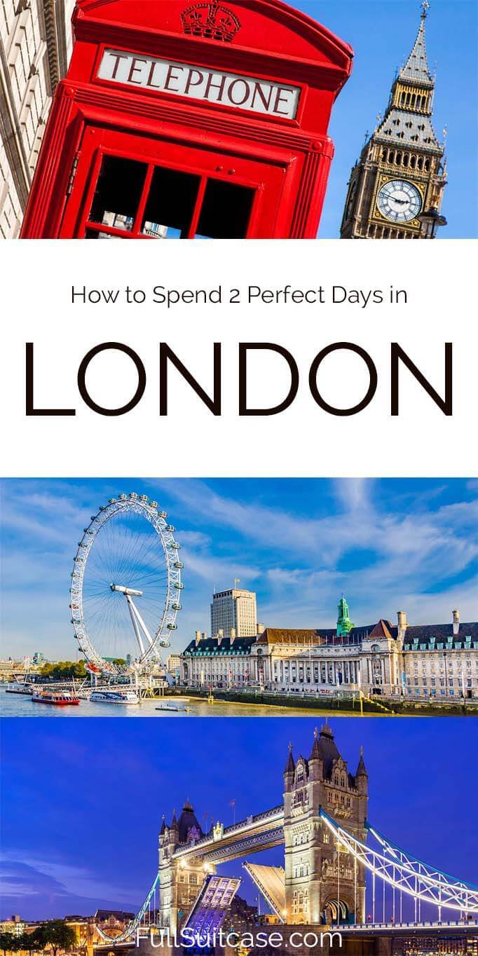 How to spend 2 days in London - things to do, itinerary, and map