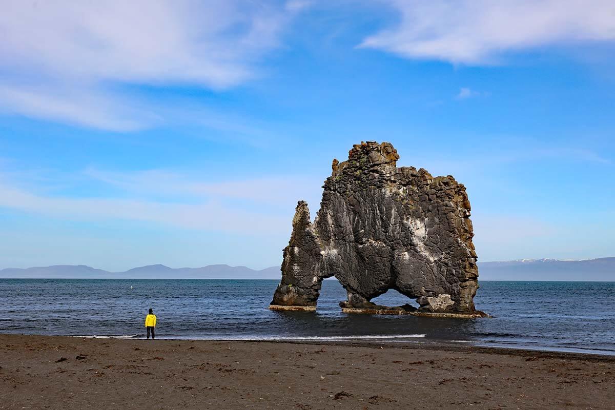 Hvitserkur rock in north Iceland