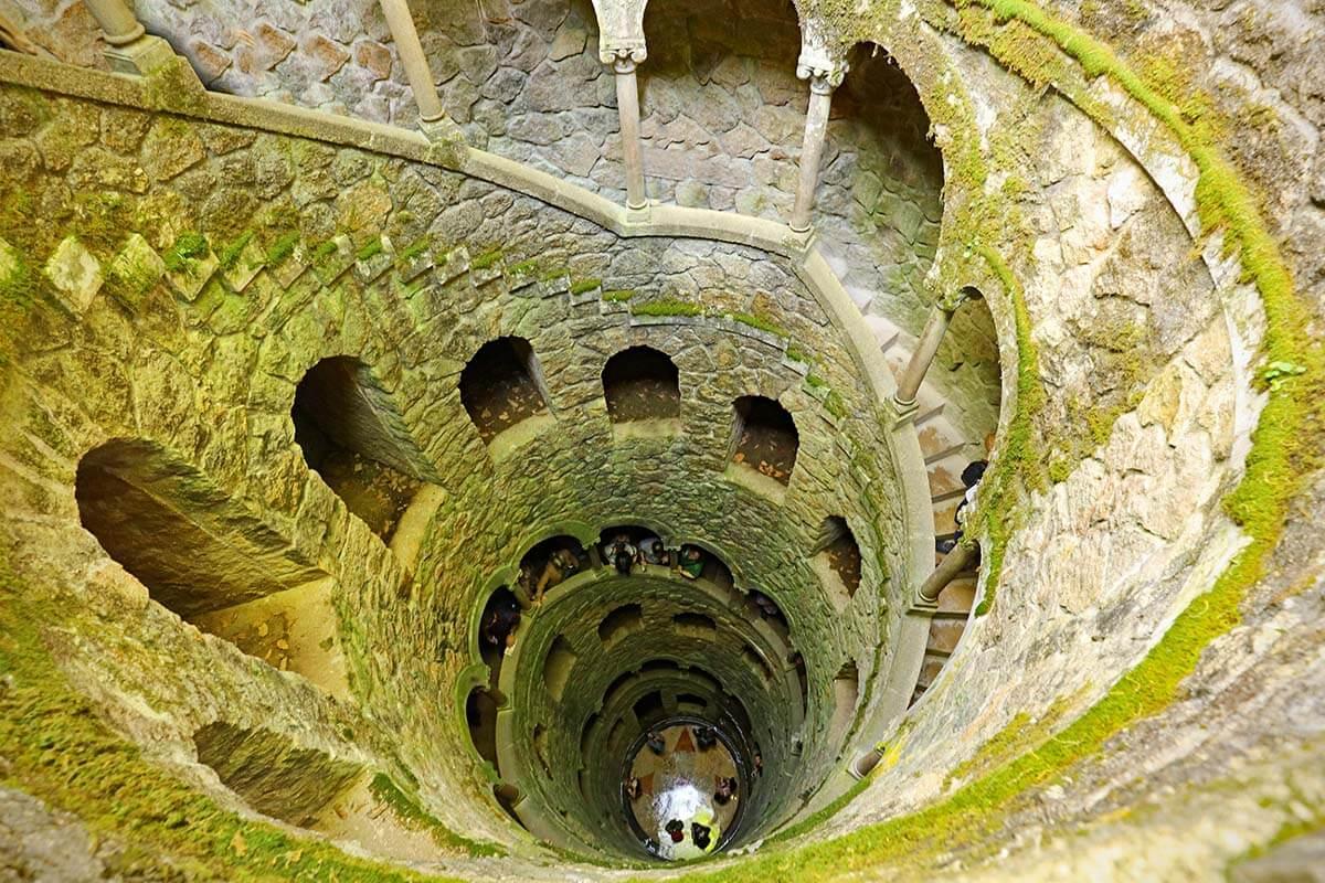 Initiation Well at Quinta da Regaleira in Sintra Portugal