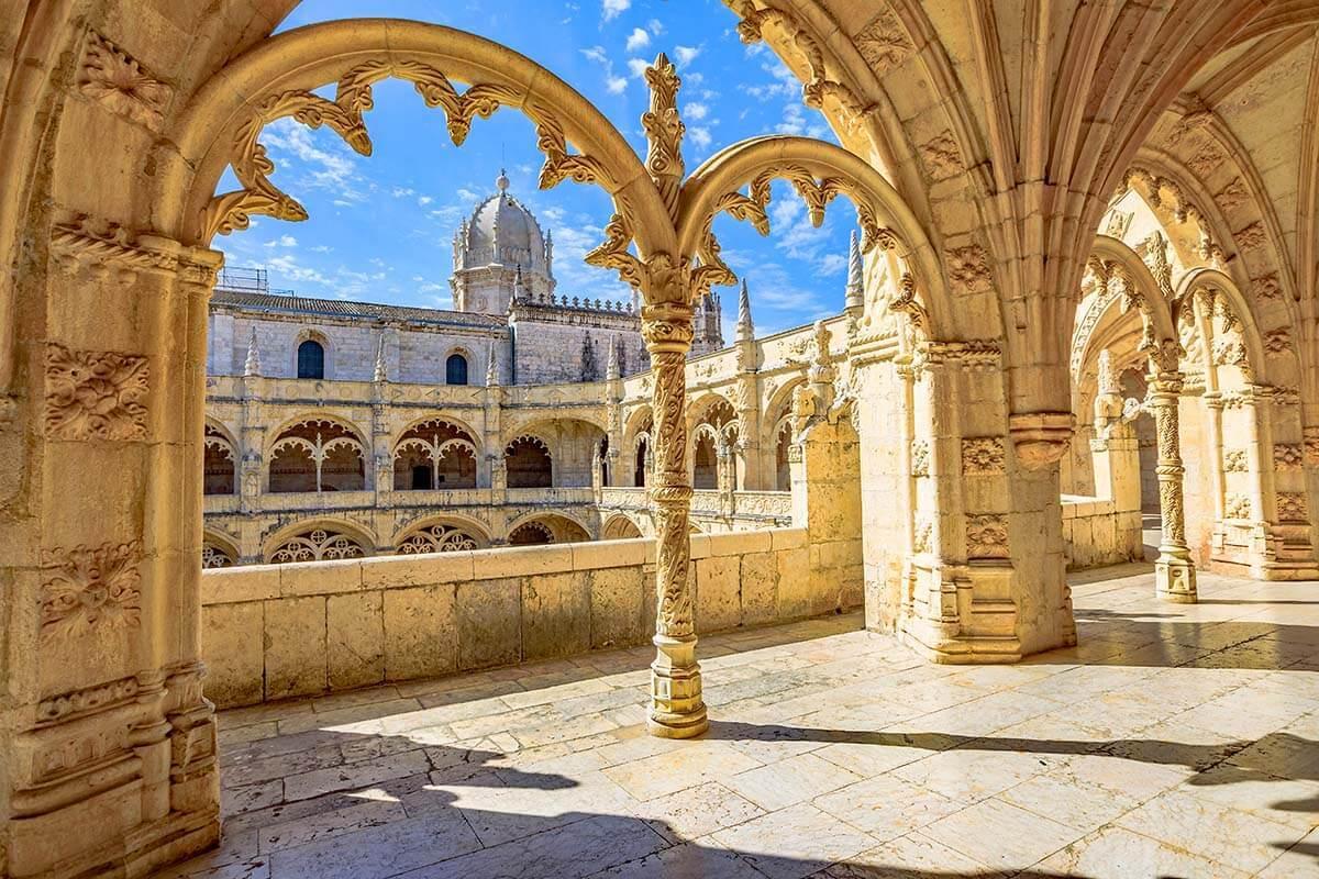 Interior of Jeronimos Monastery in Lisbon