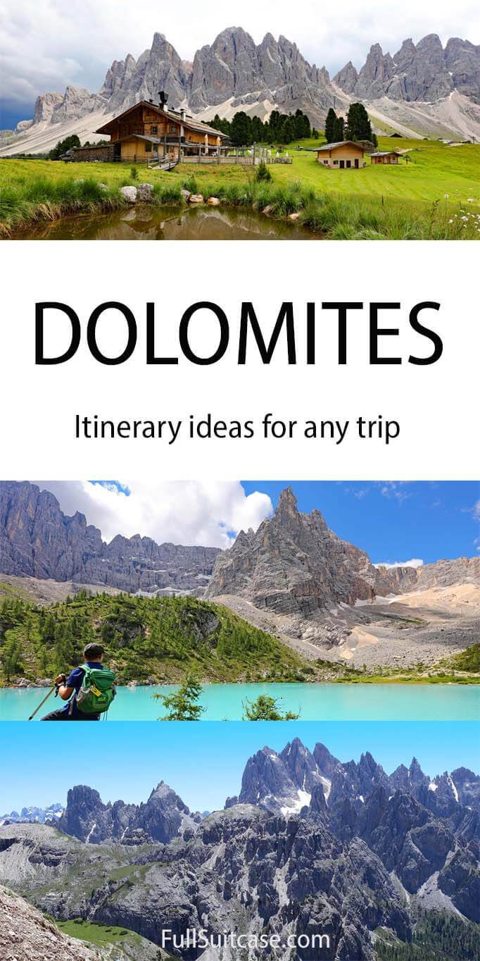Italian Dolomites itinerary suggestions for any trip