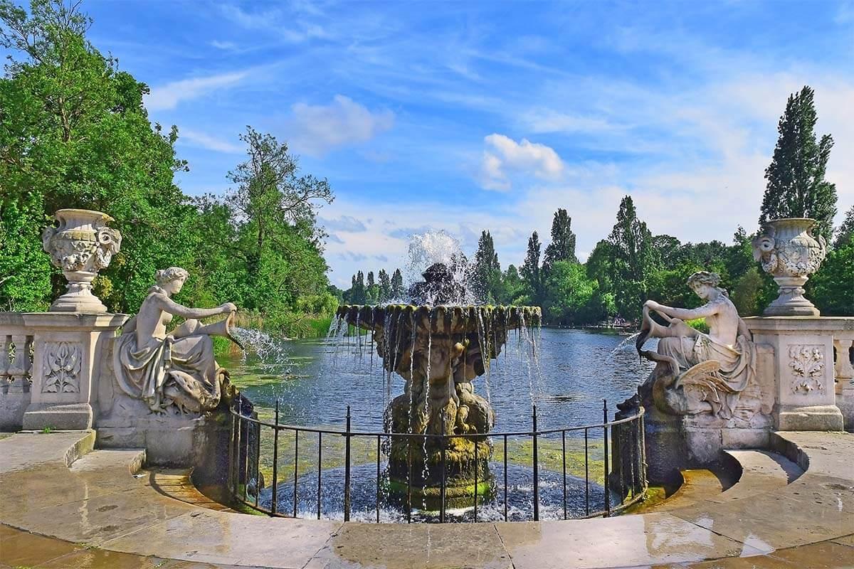Italian Gardens in Hyde Park in London