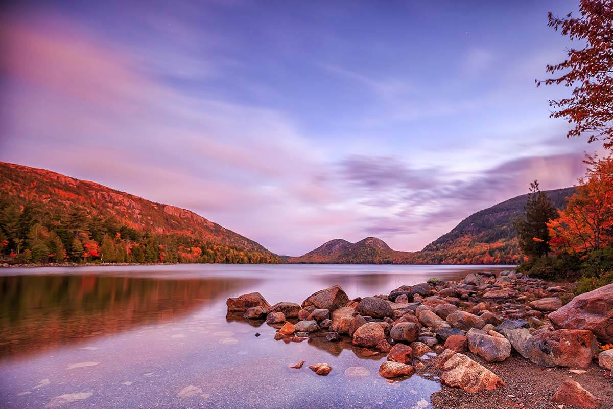 Jordan Pond in Acadia National Park USA