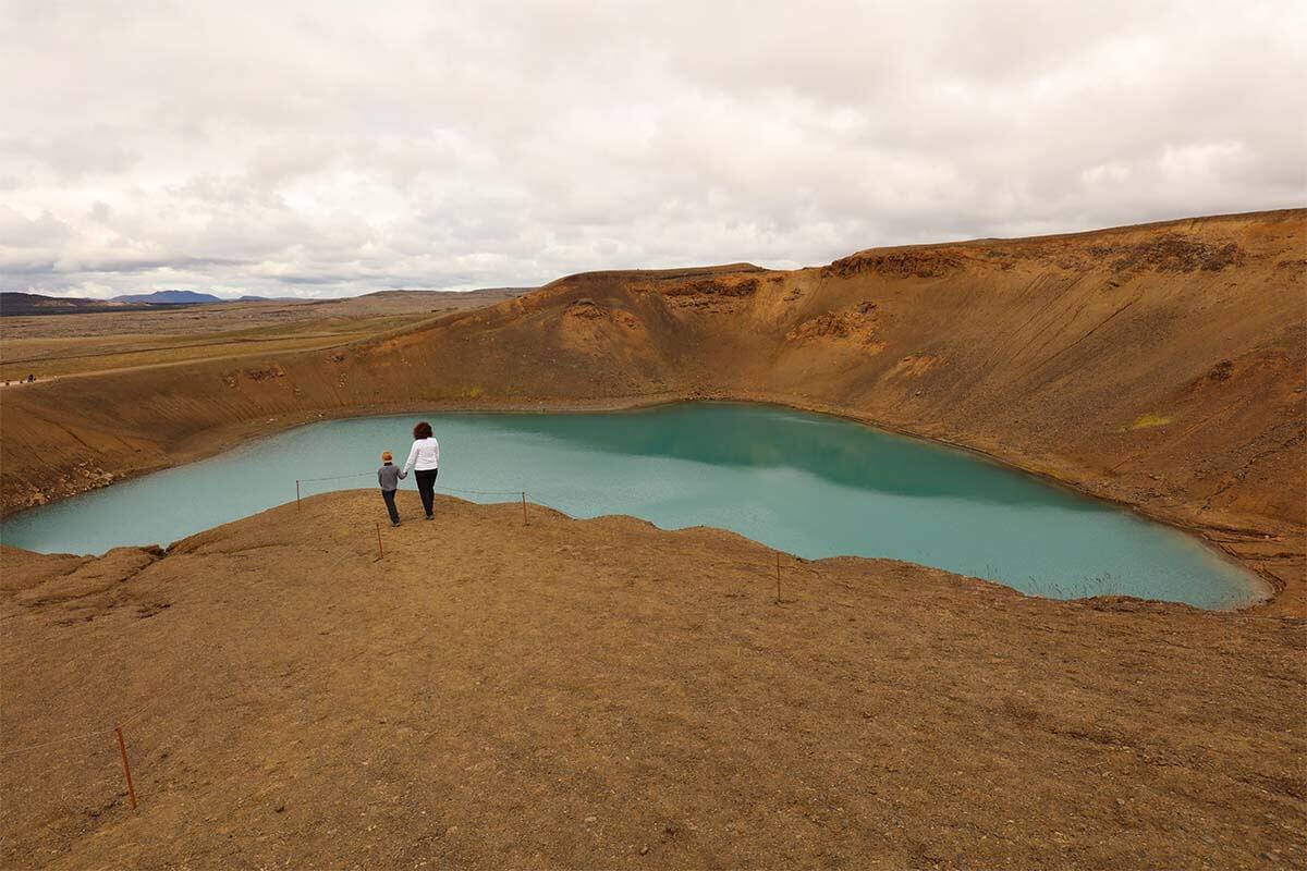 Krafla volcano in Iceland