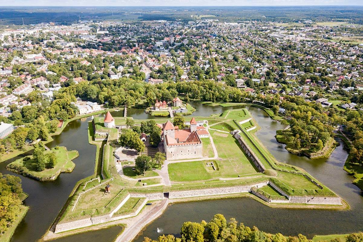 Aerial view of Kuressaare Estonia