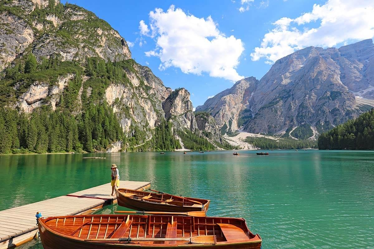 Boats at Lago di Braies