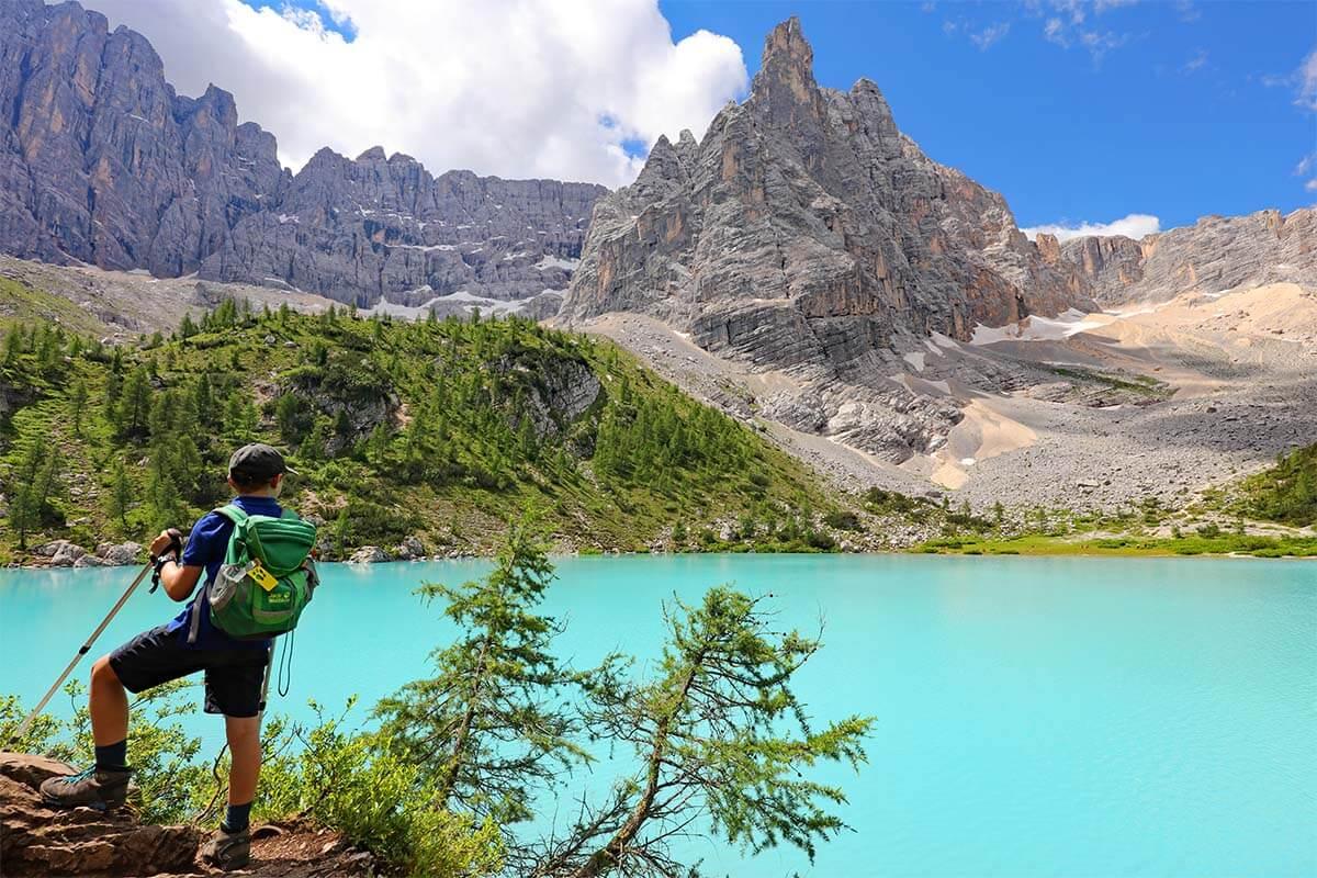 Lago di Sorapis in the Italian Dolomites