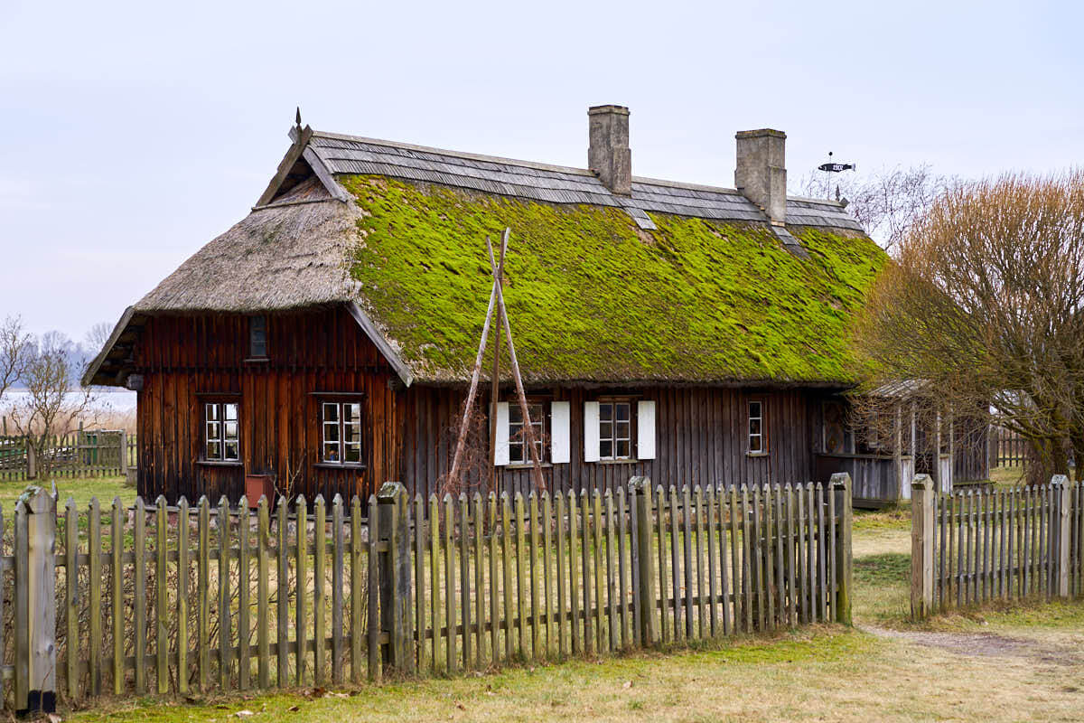 Traditional buildings at the Ethnographic Open-Air Museum of Latvia
